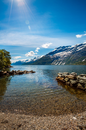 nature scenery: Beautiful Nature Norway natural landscape.