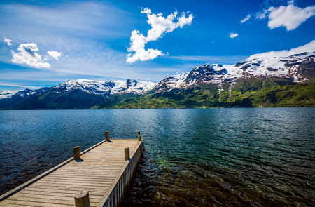 cruise travel: Beautiful Nature Norway natural landscape.