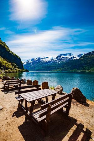 paisaje natural: Beautiful Nature Norway natural landscape.