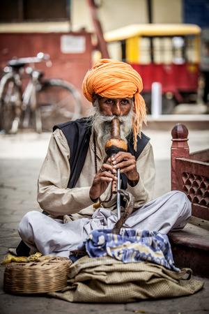 charmer: Photo street snake charmer. India. Stock Photo