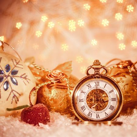 pocket watch: Christmas pocket watch still life.