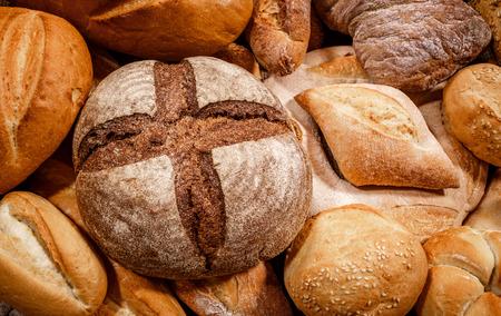 パンと焼き菓子のクローズ アップ