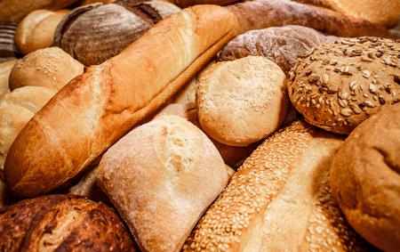 comiendo pan: Los panes y productos horneados de cerca
