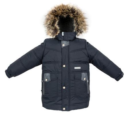white winter: Winter warm jacket isolated on white background