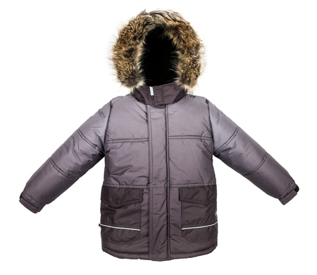 cowl: Winter warm jacket isolated on white background
