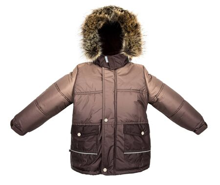 warm jacket: Winter warm jacket isolated on white background