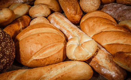 Breads and baked goods close-up