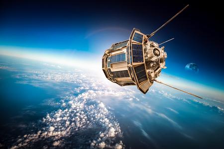 orbital spacecraft: Space satellite orbiting the earth.