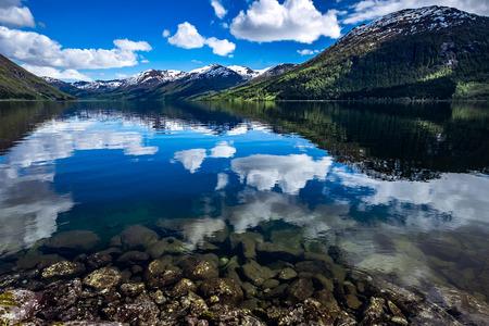 Schöne Natur Norwegen Naturlandschaft. Lizenzfreie Bilder