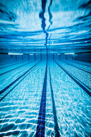 swimming: Swimming pool under water background