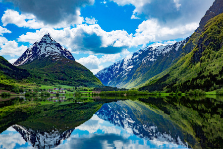 Beautiful Nature Norway natural landscape. Фото со стока - 54766212