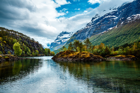 landscape nature: Beautiful Nature Norway natural landscape.