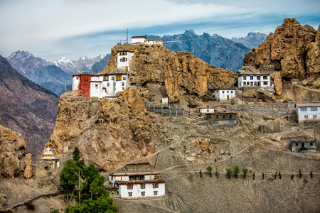 pradesh: Dhankar gompa. Spiti Valley, Himachal Pradesh, India Stock Photo