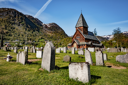 13th century: Norway - Roldal Stave Church (Roldal stavkyrkje). Church of the end of the 13th century