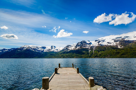 fjords: Beautiful Nature Norway natural landscape.