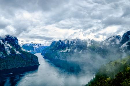 hardanger: Beautiful Nature Norway natural landscape. Hardanger fjorden, Norway