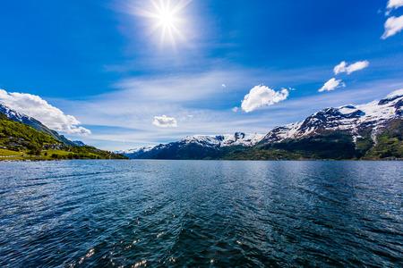 scandinavian landscape: Beautiful Nature Norway natural landscape.