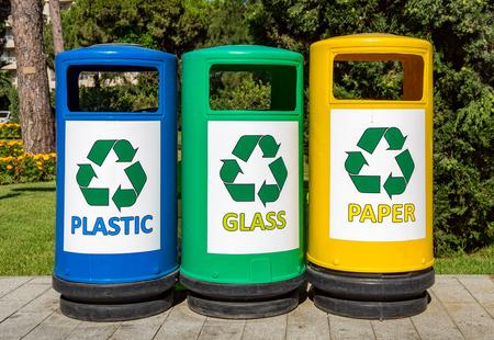 segregate: Colorful Garbage bins