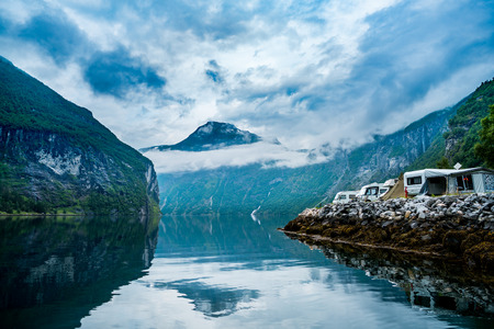 norway: Geiranger fjord, Beautiful Nature Norway. It is a 15-kilometre (9.3 mi) long branch off of the Sunnylvsfjorden, which is a branch off of the Storfjorden (Great Fjord).