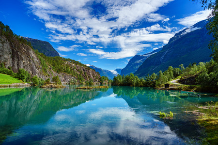 Beautiful Nature Norway natural landscape. Фото со стока - 64786734