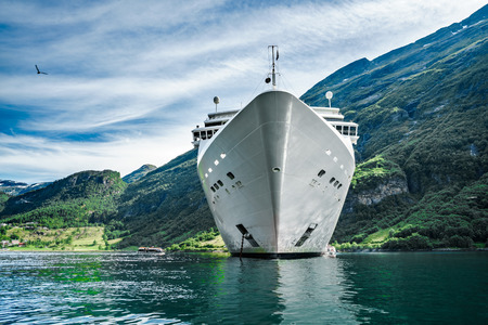 hardanger: Cruise Ship, Cruise Liners On Geiranger fjord, Norway