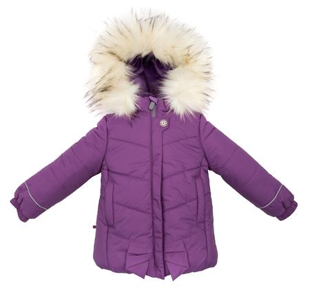 winter jacket: Women winter jacket isolated on white background.