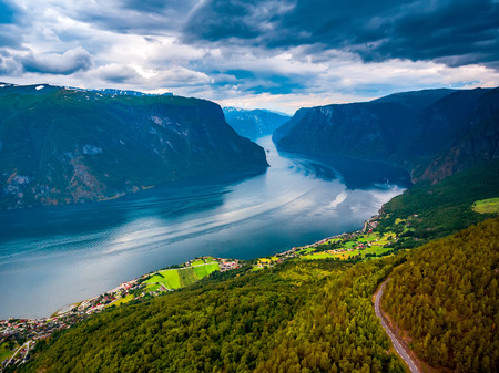 Beautiful Nature Norway. The Sognefjorden. Stock Photo