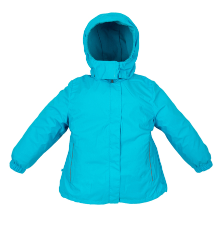Childrens Women winter jacket isolated on white background. Stock Photo
