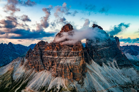 di: National Nature Park Tre Cime In the Dolomites Alps. Beautiful nature of Italy.
