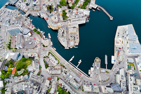 Aksla at the city of Alesund , Norway Stock Photo