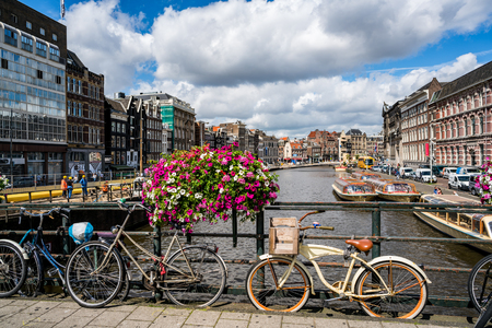 NETHERLANDS, AMSTERDAM : AUGUST 8, 2016: Amsterdam is ranked fifth best of European cities in which to locate an international business, surpassed by London, Paris, Frankfurt and Barcelona.