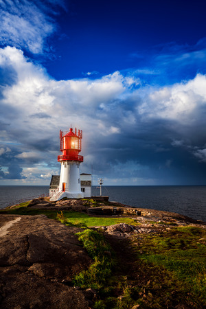 Lindesnes Fyr Lighthouse, Beautiful Nature Norway natural landscape