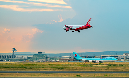 FRANKFURT,GERMANY: JUNE 23, 2017: Airbus A320 Air Berlin was Germanys second-largest airline and Europes tenth-largest airline in terms.