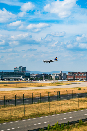 FRANKFURT,GERMANY: JUNE 23, 2017: LUFTHANSA Airbus. Lufthansa, is the largest German airline and, when combined with its subsidiaries, also the largest airline in Europe