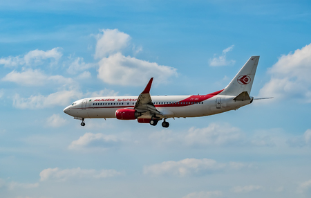 AIRPORT FRANKFURT,GERMANY: JUNE 23, 2017: Boeing Air Algerie is the national airline of Algeria, with its head office in the Immeuble El-Djazair in Algiers Editorial