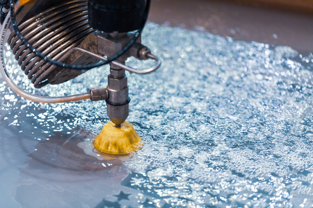 CNC water jet cutting machine modern industrial technology. Stockfoto