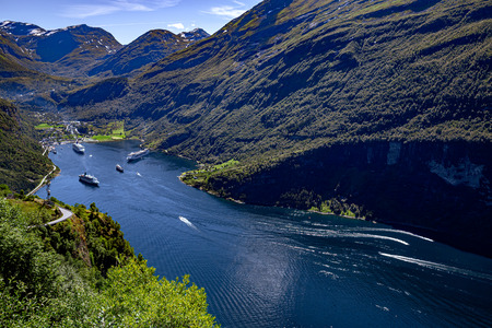 Geiranger fjord, Beautiful Nature Norway. 写真素材