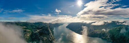 Beautiful Nature Norway natural landscape. 写真素材 - 128817231