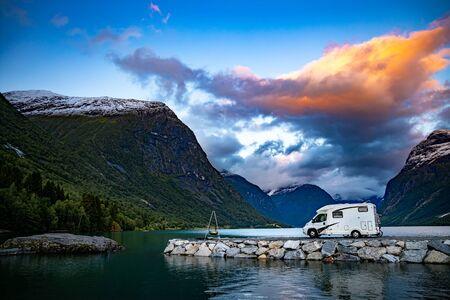 Family vacation travel RV, holiday trip in motorhome, Caravan car Vacation 写真素材 - 130316006