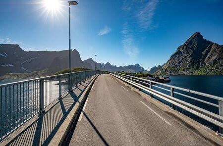 Reine bridge Lofoten is an archipelago in the county of Nordland, Norway.
