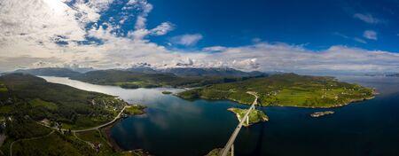 Panorama Beautiful Nature Norway natural landscape. 写真素材 - 131393505