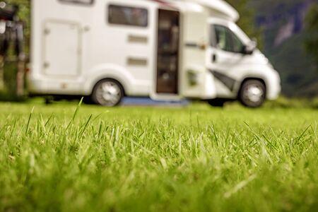Familienurlaub Reise RV, Urlaubsreise im Wohnmobil, Wohnwagen Urlaub