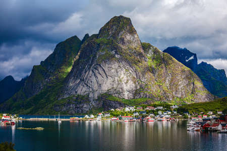 Lofoten is an archipelago panorama in the county of Nordland, Norway. Is known for a distinctive scenery with dramatic mountains and peaks, open sea and sheltered bays, beaches and untouched lands.
