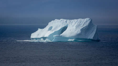 Iceberg off the coast of Newfoundland and Labrador 스톡 콘텐츠