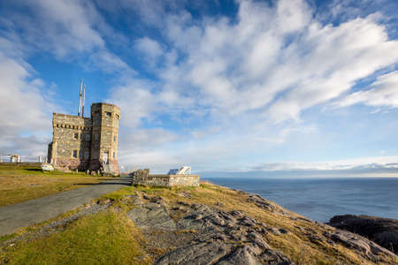 Sunny day overlooking the ocean from Cabot Tower on Signal Hill, Newfoundland and Labrador Editorial