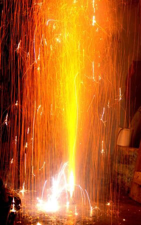 fire crackers: Firework on Diwali Festival, Festival of lights with a Fire Fountain
