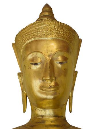 budda: Isolated Golden Budda Head with Crown
