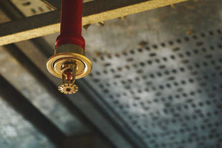 Automatic Fire ceiling Sprinkler in red water pipe System