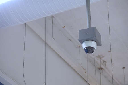 security cameras dome type install on the ceiling