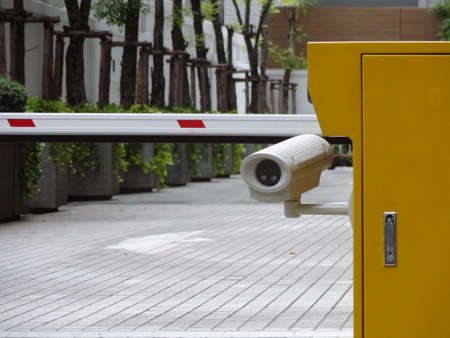 CCTV security camera at automatic packing entry machine